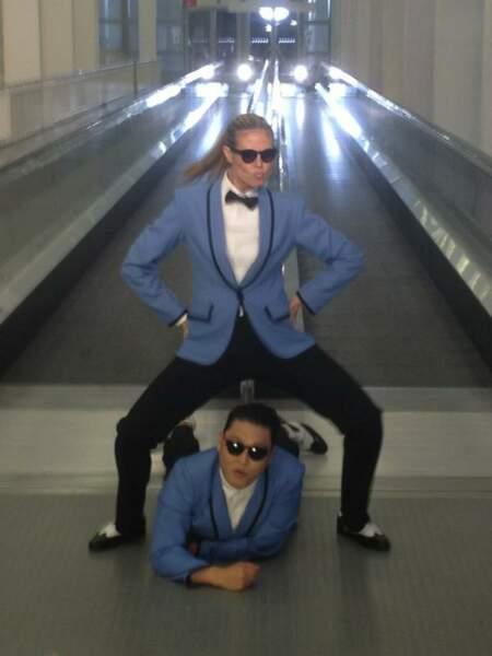 Heidi Klum : Psy elle n'en fait qu'une bouchée !
