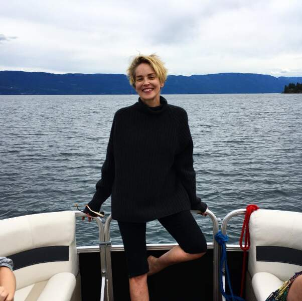 Autre climat mais bateau quand même pour Sharon Stone dans le Montana.