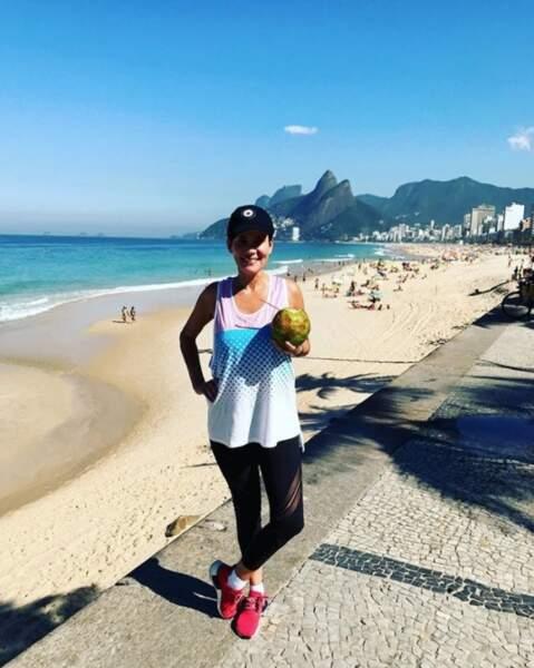 Et même tarif pour Cristina Cordula à Rio avec sa noix de coco fraîche.
