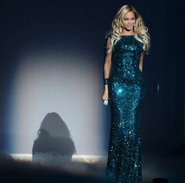La splendide Beyoncé Knowles avait sorti sa plus jolie robe pailletée