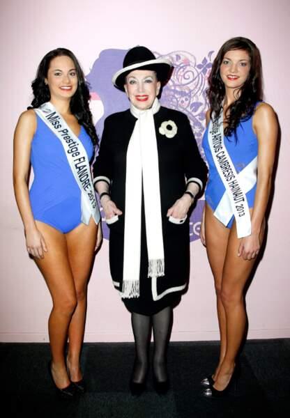 Claire Dautremee, Miss Prestige Cambresis-Hainaut 2013 à droite en compagnie de Geneviève de Fontenay