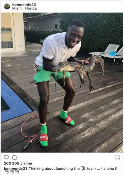Quant à Benjamin Mendy, critiqué pour avoir posé avec un crocodile dans les bras…