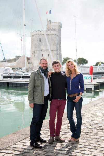 """""""Chloé"""" et """"Alex"""" étaient accompagnés de leur fils Maxime"""