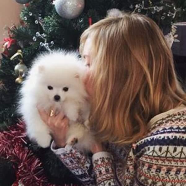 ... Mais aussi de son adorable chienne Ginette