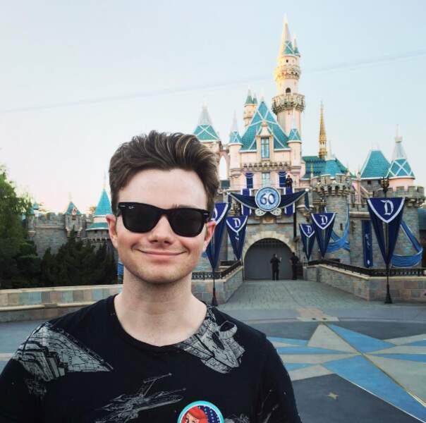 Certains ont fait un tour à Disneyland, comme l'acteur Chris Colfer (Glee) en Californie ...