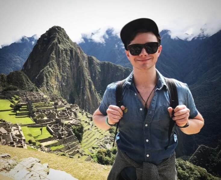 Mais d'autres ont préféré partir plus loin : Chris Colfer de Glee a découvert le Machu Picchu.