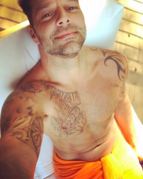 Ricky Martin nous a montré son torse musclé et bronzé.