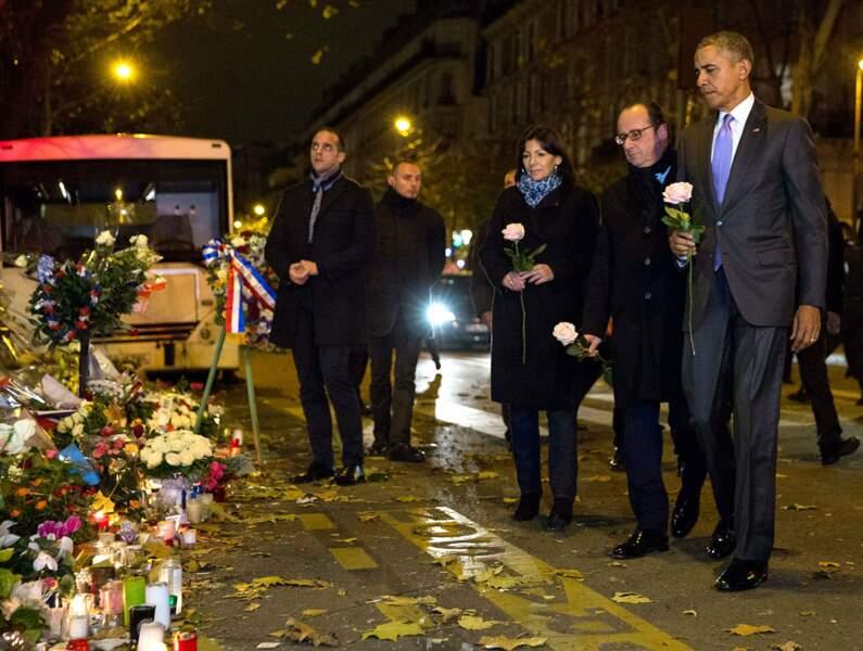 30 novembre 2015 : le Président américain rend hommage aux victimes des attentats de Paris