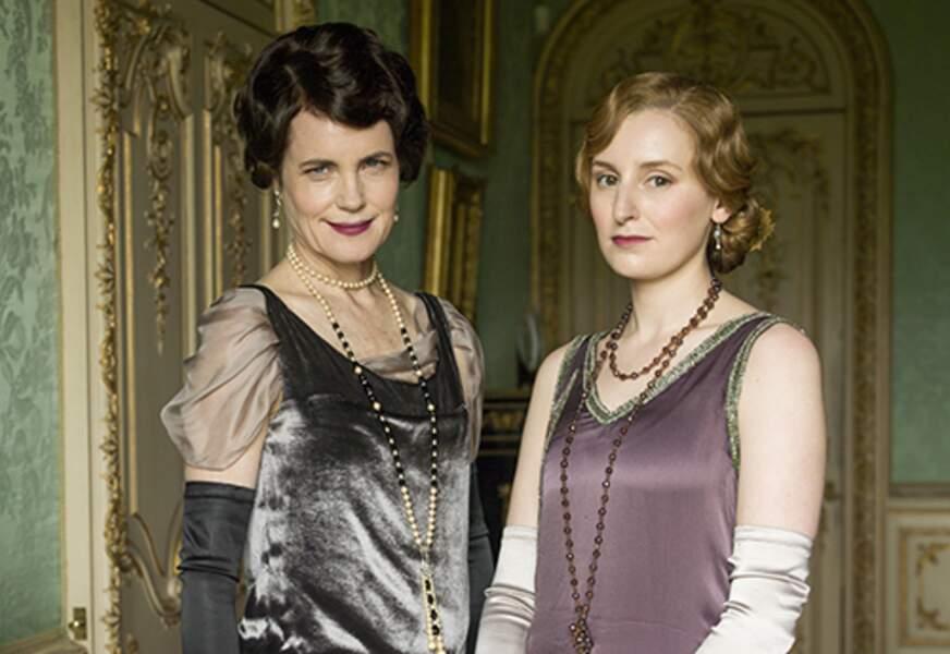 Cora Crawley, comtesse de Grantham, et Lady Edith Crawley