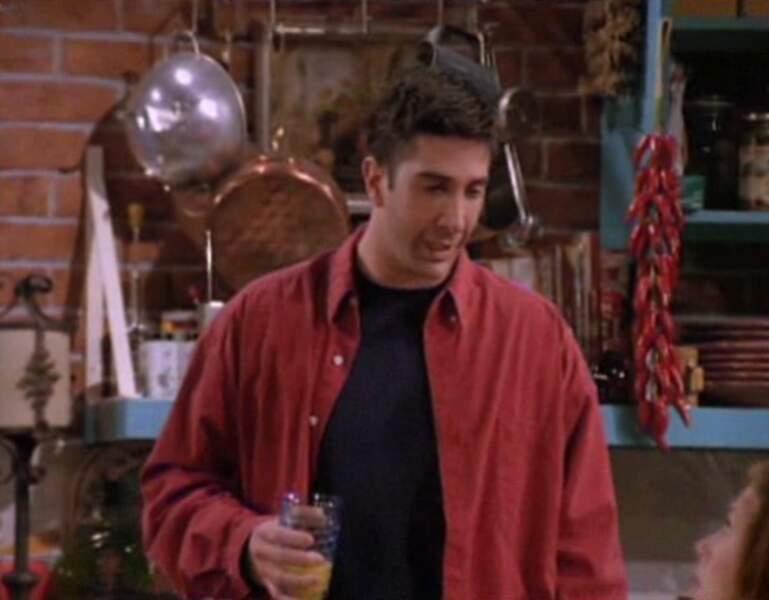 Ross Geller (David Schwimmer) dans l'épisode pilote de Friends.