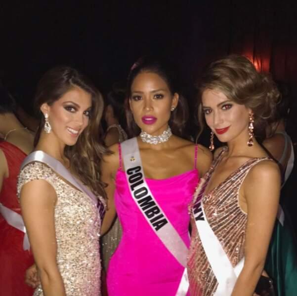 Iris s'est déjà fait des copines : Miss Allemagne et Miss Colombie