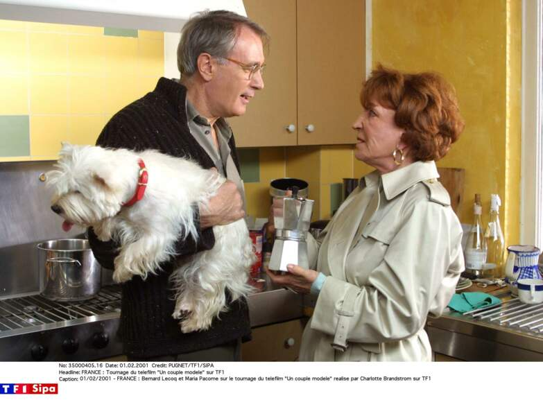 """Maria Pacôme avait aussi donné la réplique à Bernard Lecoq dans """"Un couple modèle"""" en 2001 sur TF1"""