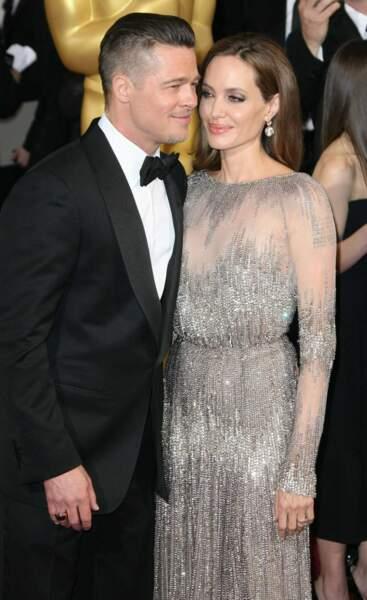 Angelina Jolie et Brad Pitt, superbes sur le tapis rouge des Oscars