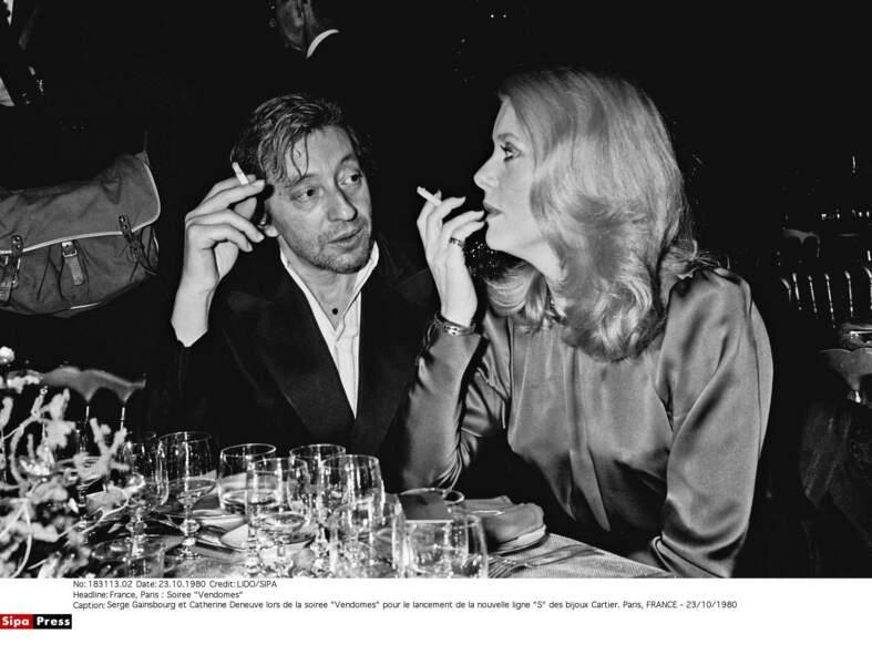 Avec Serge Gainsbourg, Catherine Deneuve a vécu une belle amitié
