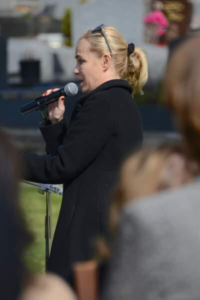 Emmanuelle Beart, sa fille, a fait un discours