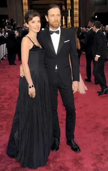 Eve Mavrakis et Ewan McGregor aux Oscars 2014