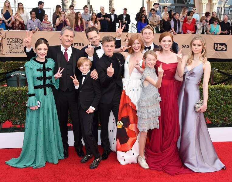 Tout le cast de Capitain Fantastic est réuni pour témoigner sa joie... à sa manière !