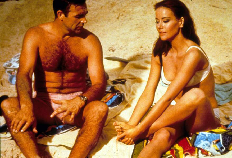 Sean Connery, ici au côté de Claudine Auger dans Opération Tonnerre, 4è opus de la saga James Bond