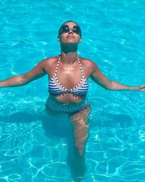 Katrina Patchett a fait trempette en Grèce.
