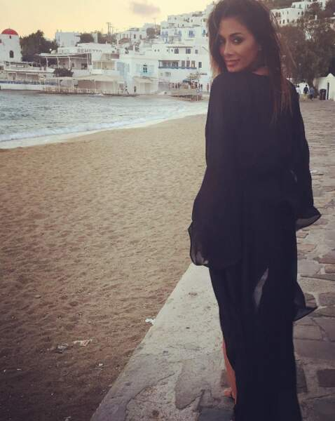 Comme l'an passé, Nicole Scherzinger a également fait un tour par la Grèce.