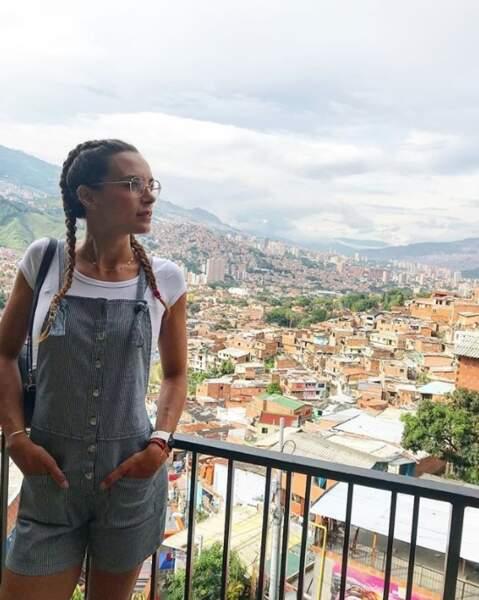 Marine Lorphelin a pris de la hauteur à Medellin en Colombie.