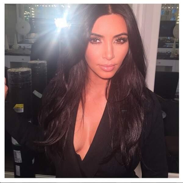 A New York, on a pu découvrir Kim Kardashian particulièrement décolletée