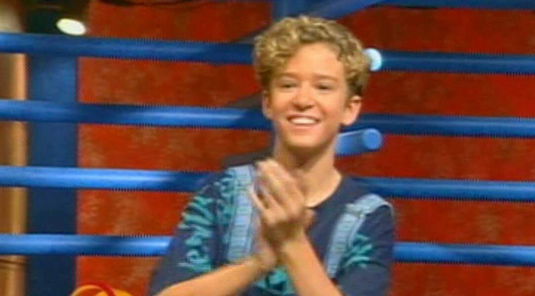 Justin Timberlake, tout sourire, au Mickey Mouse Club en 1993 où il rencontre sa future girlfriend Britney Spears.