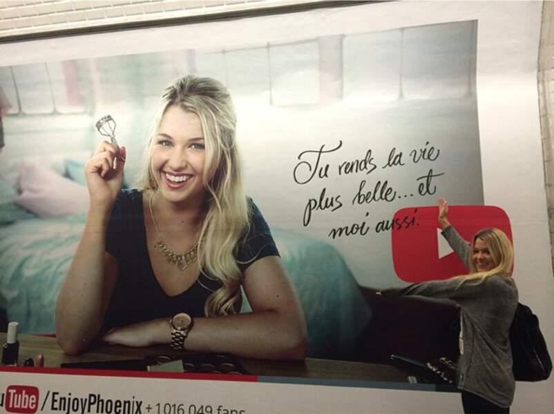 Enjoy découvre sa pub dans le métro parisien.