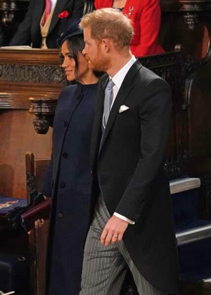 Le prince Harry et Meghan Markle entrent dans la Chapelle Saint-George, théâtre de leur propre mariage en mai
