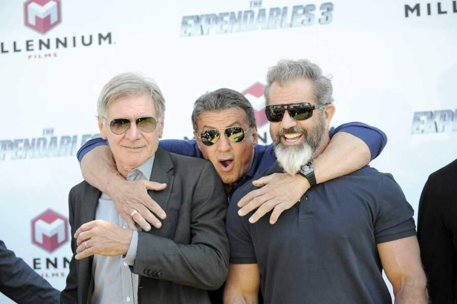Sylvester Stallone, heureux de retrouver ses copains Harrison Ford et Mel Gibson