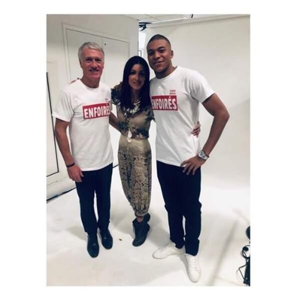 Avant de rentrer à Paris, Jenifer poste un ultime cliché avec Didier Deschamps et Kylian Mbappé