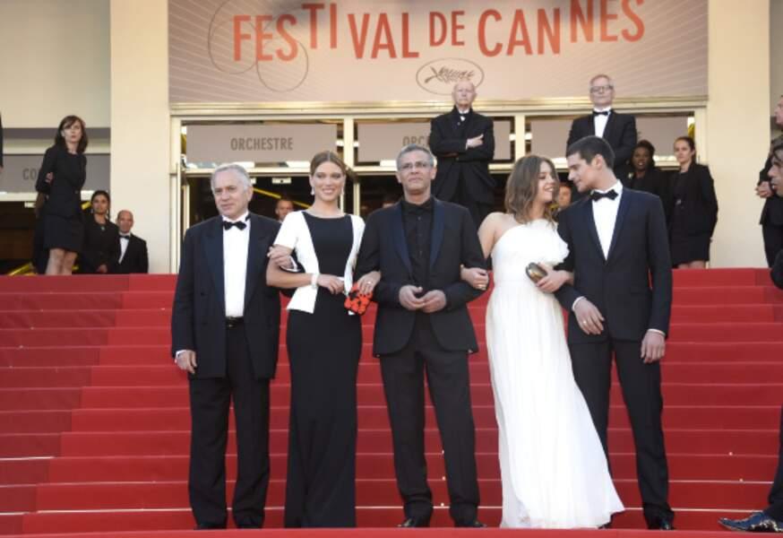 L'équipe du film La Vie d'Adèle lors de la dernière montée des marches