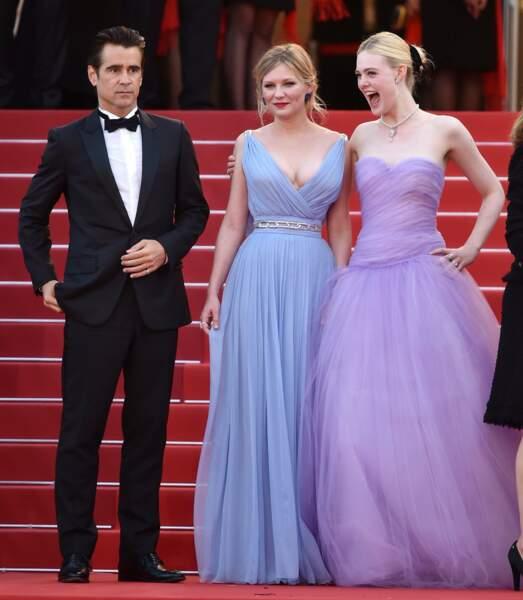 Colin Farrell, Kirsten Dunst et Elle Fanning casting complice du film Les Proies