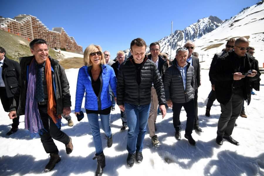 Le couple s'est rendu à la station pyrénéenne de La Mongie, en haut de la montagne !
