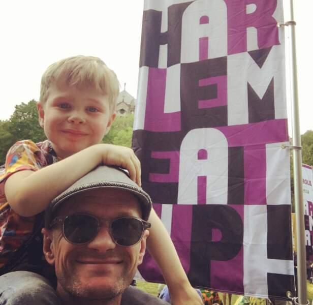 Neil Patrick Harris de sortie avec son fils Gideon.