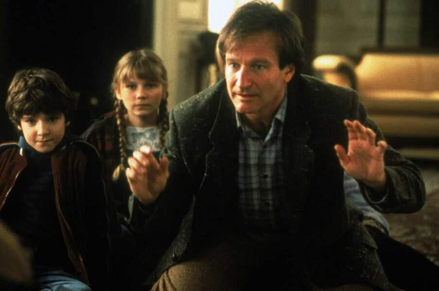Robin Williams dans Jumanji avec Kirsten Dunst (1995)