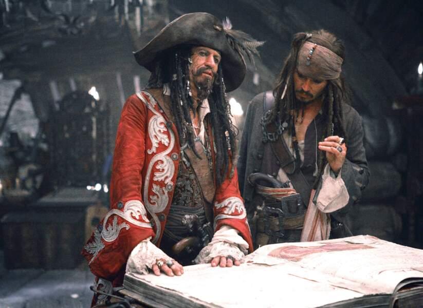 Pirates des Caraïbes 3, jusqu'au bout du monde (2007) : Johnny Depp aux côtés de Keith Richards