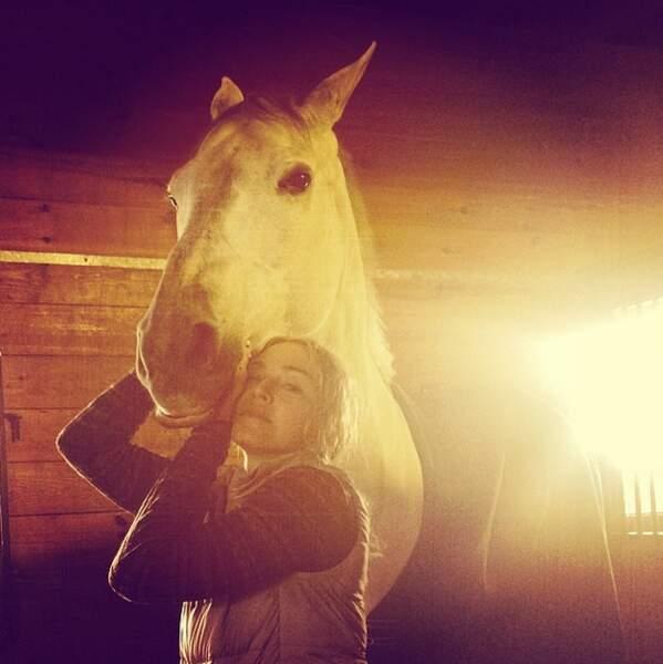 Sinon Madonna aime les chevaux...