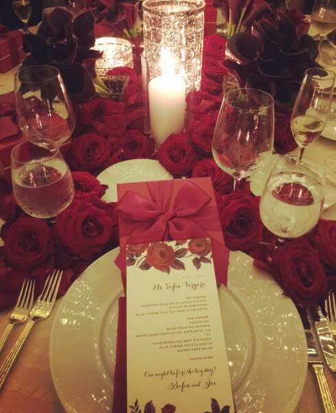 Des bougies, des fleurs, Sofia Vergara et Joe Manganiello se sont dit oui !
