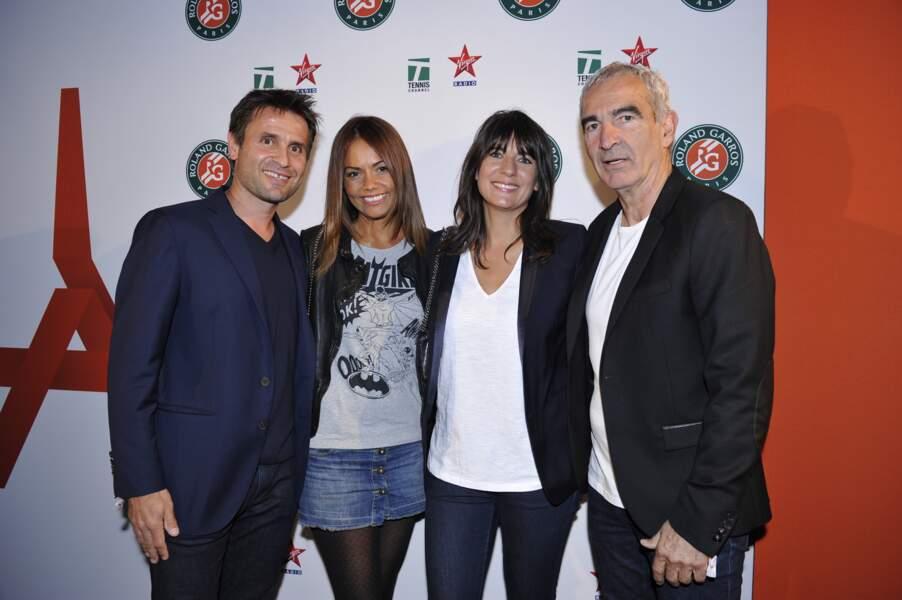 Belle brochette : Fabrice Santoro, sa femme, Estelle Denis et Raymond Domenech