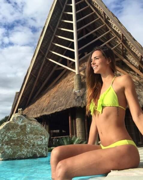 En Nouvelle-Calédonie, Marine Lorphelin profite du soleil