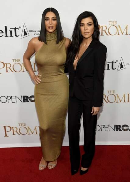 Les soeurs Kardashian étaient présentes à l'avant-première de The Promise le 12 avril 2017