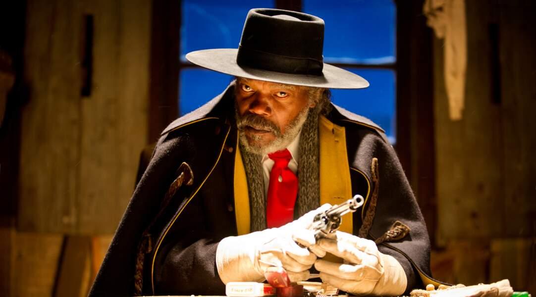 Warren (Samuel L. Jackson), l'un des chasseurs de primes des Huit salopards