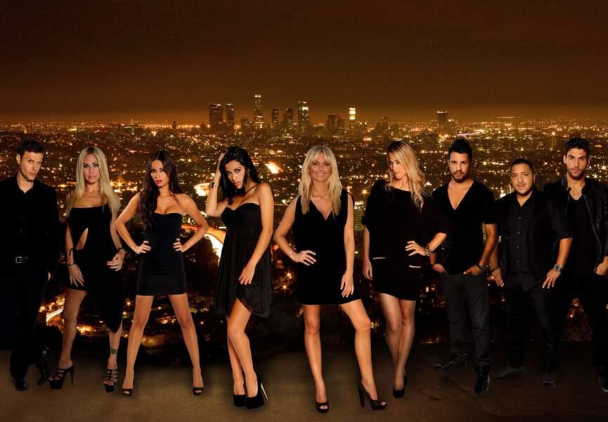 Photo de groupe des acteurs by night