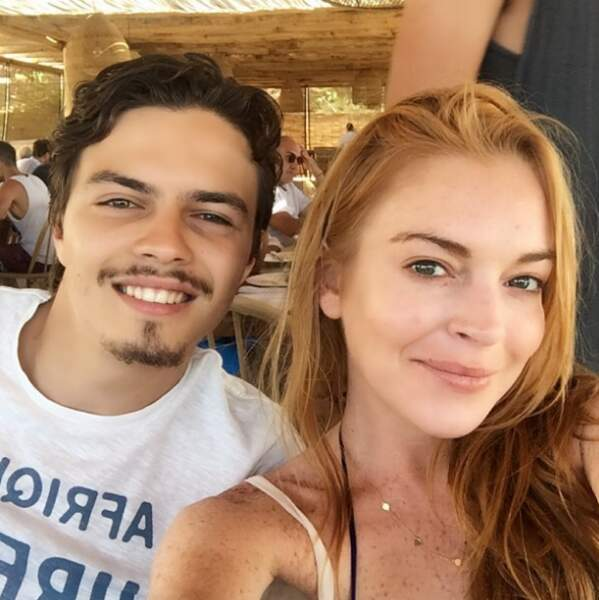 Lindsay Lohan et son compagnon Egor Tarabasov.