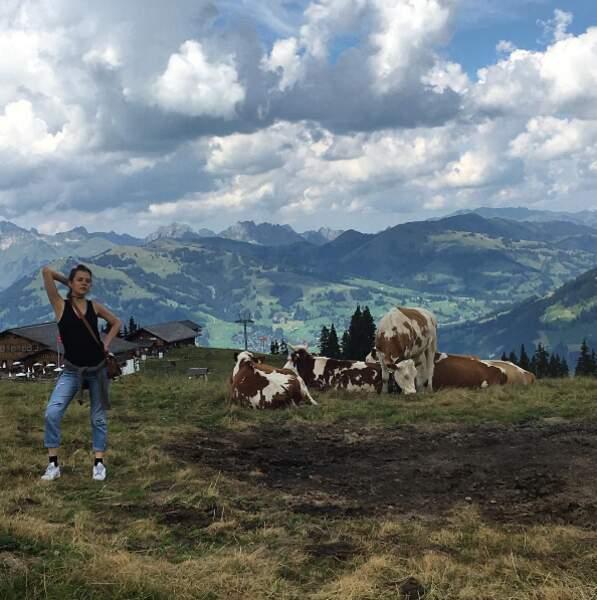 A Gstaad en été, il n'y a pas de neige mais il y a des vaches. La preuve avec cette photo de Morgane Polanski.