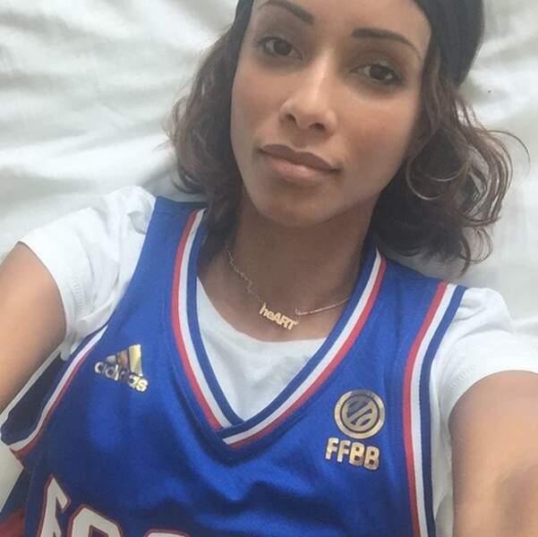 Sonia Rolland aime le basket (surtout quand la France joue).