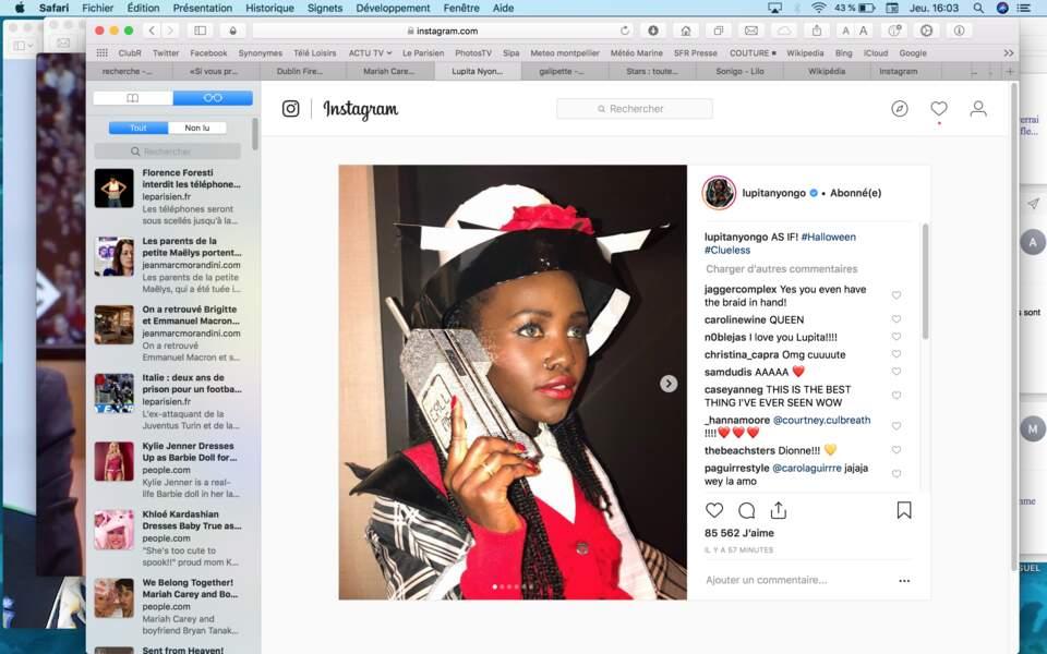 Lupita Nyong'o a revisité le costume écossais de Dionne, une des héroïnes du film culte Clueless