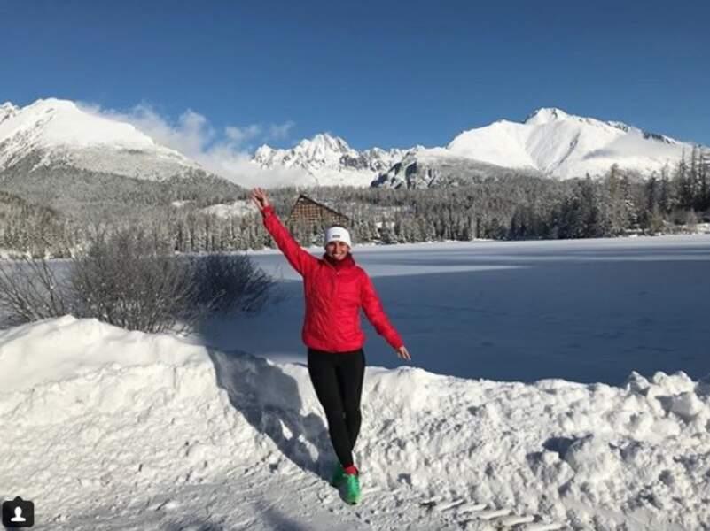 Dominika Cibulkova a elle opté pour les cimes enneigées pour se changer les idées