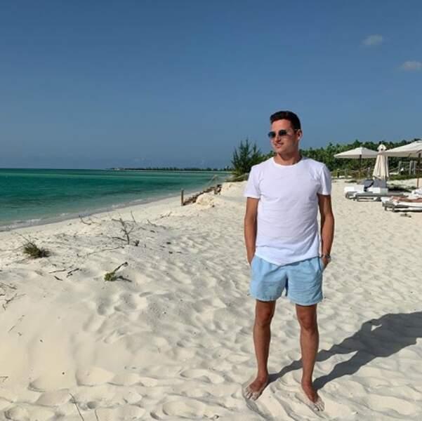 Voici le footballeur Florian Thauvin dans les Îles Turques-et-Caïques.